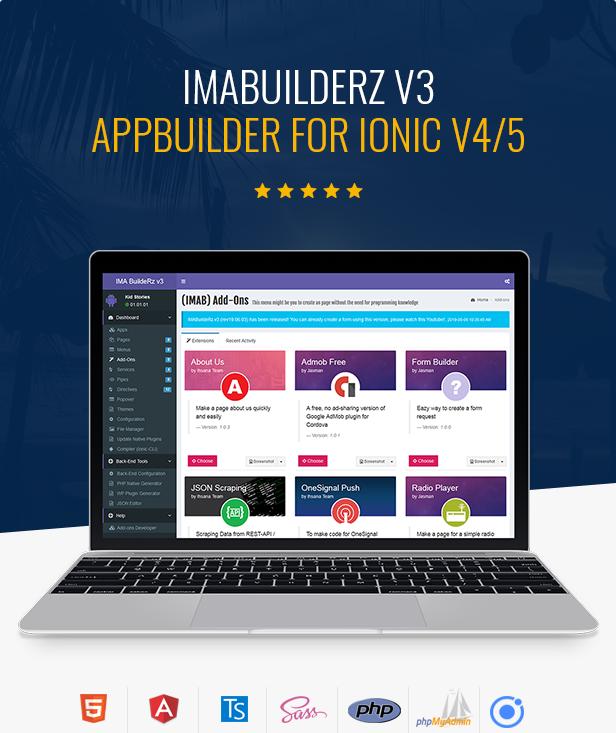 IMABuildeRz - Universal AppBuilder for Ionic v4 - 1